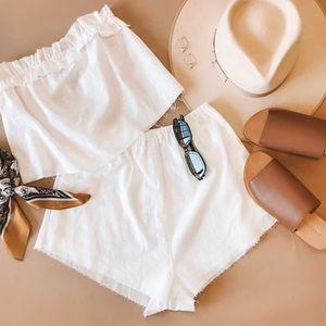 2 Piece White Cotton Set